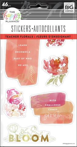 MAMBI - Happy Planner, Tarrasetti, 5 arkkia, Watercolor Florals