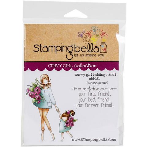 Stamping Bella - Curvy Girl Holding Hands, Leimasetti