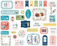 Carta Bella - Craft & Create, Ephemera, 33 kpl