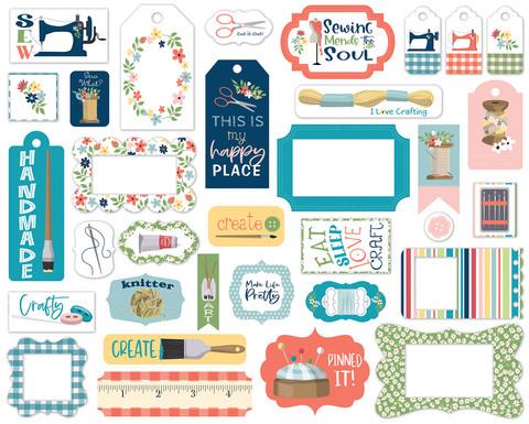 Carta Bella - Craft & Create, Frames & Tags, Leikekuvia, 33 kpl