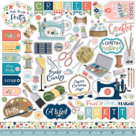 Carta Bella - Craft Create, Element Sticker 12