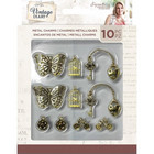 Crafter's Companion - Sara Signature Vintage Diary Collection, Metal Charms, 10 kpl
