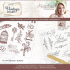 Crafter's Companion - Sara Signature Vintage Diary Collection, Rub On Transfers