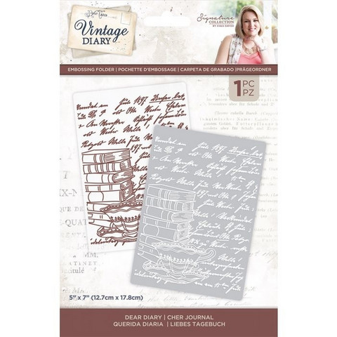 Crafter`s Companion - Sara Signature Vintage Diary Collection, Kohokuviointitasku, Dear Diary