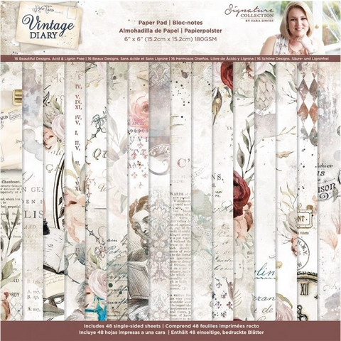 Crafter`s Companion - Sara Signature Vintage Diary Collection, Paperikko 6