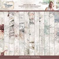 Crafter`s Companion - Sara Signature Vintage Diary Collection, Vellum Pad, 12