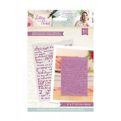 Crafter`s Companion - Sara Signature Letters from The Heart Collection, Kohokuviointitasku, Traditional Script