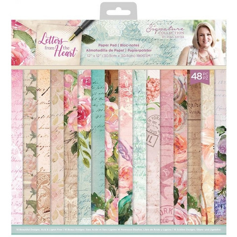 Crafter's Companion - Sara Signature Letters From The Heart Collection, Paper Pad 12