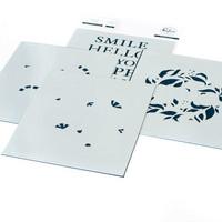 Pinkfresh Studio - Reason To Smile Wreath Layering, Kerrossapluunasetti