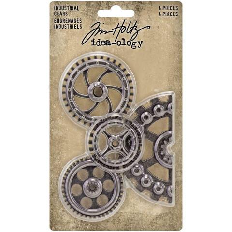 Tim Holtz - Idea-Ology Metal Industrial Gears, 4 kpl