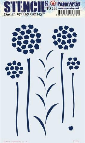 PaperArtsy - Stencil 236, Sapluuna