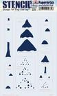 PaperArtsy - Stencil 214, Sapluuna