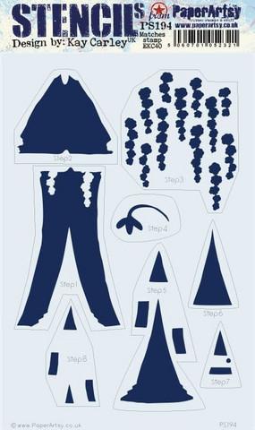 PaperArtsy - Stencil 194, Sapluuna