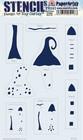 PaperArtsy - Stencil 182, Sapluuna