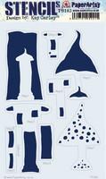 PaperArtsy - Stencil 183, Sapluuna