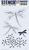 PaperArtsy - Stencil 127, Sapluuna