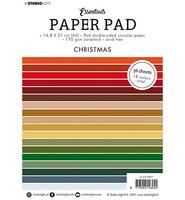Studio Light - Paper Pad Unicolor Christmas Essentials nr.7, A5, Paperikko