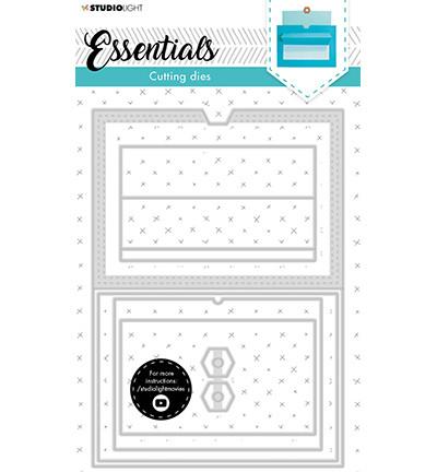 Studio Light - Cutting Die Building Slider Cardshape Essentials nr.16, Stanssisetti