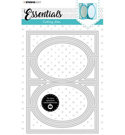 Studio Light - Cutting Die Oval Zig-zag Cardshape Essentials nr.17, Stanssisetti