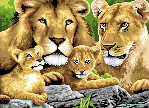 Royal&Langnickel - Paint By Numbers Kit, Pride of Lions