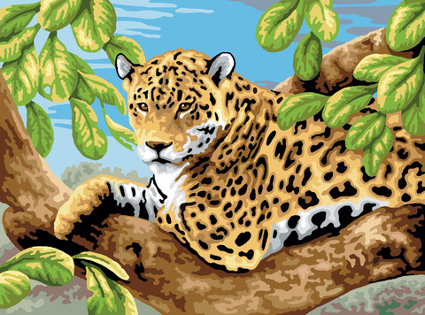 Royal&Langnickel - Paint By Numbers Kit, Leopard In Tree