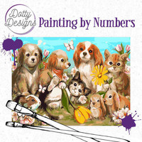 Dotty Design - Paint By Numbers 40x50cm, Pets