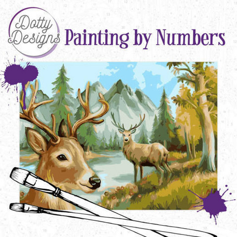 Dotty Design - Paint By Numbers 40x50cm, Deer