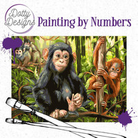Dotty Design - Paint By Numbers 40x50cm, Monkeys
