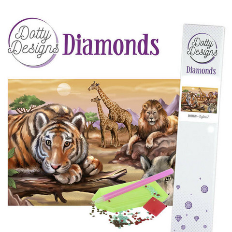 Dotty Designs -  Safari 2(K)(P), Timanttimaalaus, 30x42cm