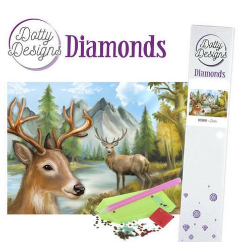 Dotty Designs - Deer (K)(P), Timanttimaalaus, 30x42cm