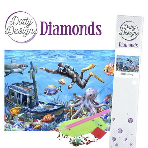 Dotty Designs - Diving (K)(P), Timanttimaalaus, 30x42cm