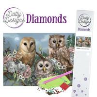Dotty Designs - Romantic Owls (K)(P), Timanttimaalaus, 30x42cm