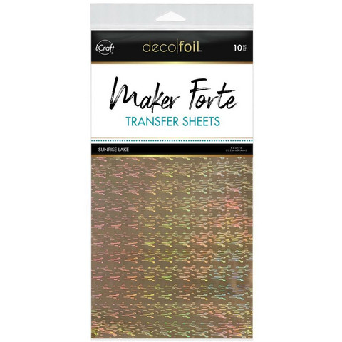 Deco Foil - Maker Forte Transfer Sheets (T), Sunrise Lake