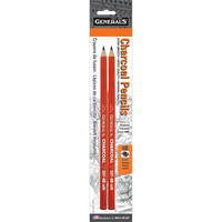 General`s - Charcoal Pencils 4B, 2 kpl