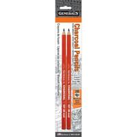 General`s - Charcoal Pencils 2B, 2 kpl