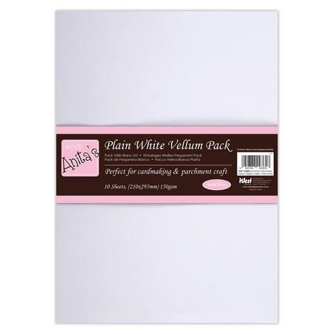 Anita's - Parchment Vellum Plain White, A4, 10 arkkia