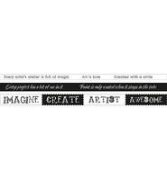 Studio Light  - Grunge Artist's Atelier Washi Tape, nro.3, 3 rl