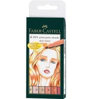Faber-Castell - PITT Artist Pen Brush, Light Skin Tones, 6kpl