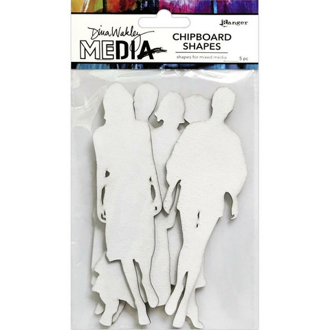 Dina Wakley Media - Chipboard Shapes, The Women, 5kpl