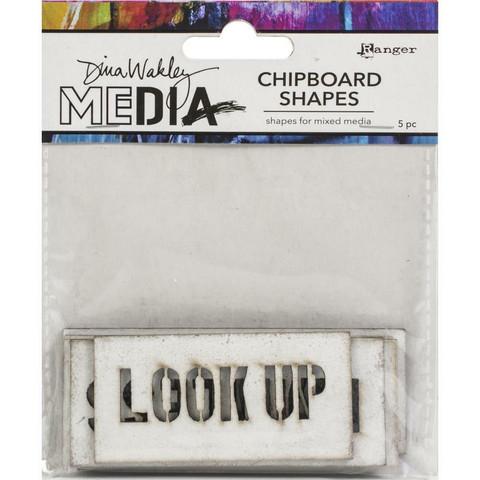 Dina Wakley Media - Chipboard Shapes, Speak Out, 5kpl