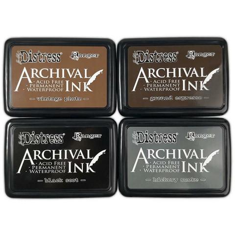 Ranger - Distress Archival Ink Pad Stack, Leimamustetyynysetti, Basics