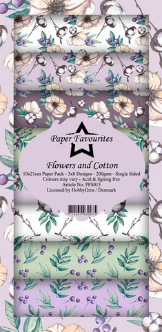 Paper Favourites - Flowers and Cotton Slim Paper Pack, Paperikko