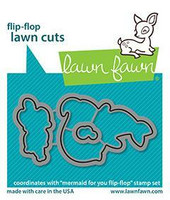 Lawn Fawn - Mermaid For You Flip-flop, Stanssisetti