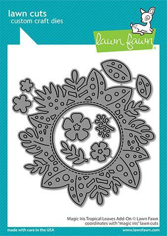 Lawn Fawn - Magic Iris Tropical Leaves Add-on, Stanssisetti