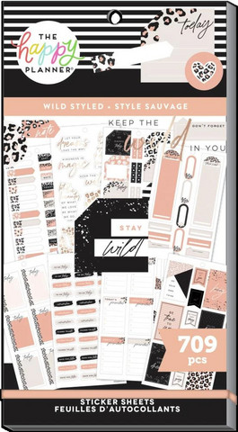MAMBI - Happy Planner, Wild Styled, Tarrasetti, 30arkkia