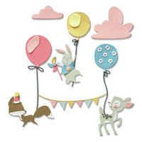 Sizzix -Thinlits Dies By Olivia Rose, Stanssisetti, Woodland Celebration
