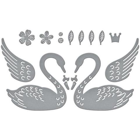 Spellbinders - Etched Dies, Stanssisetti, Heart Swans