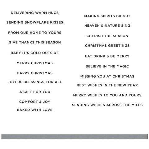 Spellbinders - Mini Christmas Greetings, Leima- ja stanssisetti