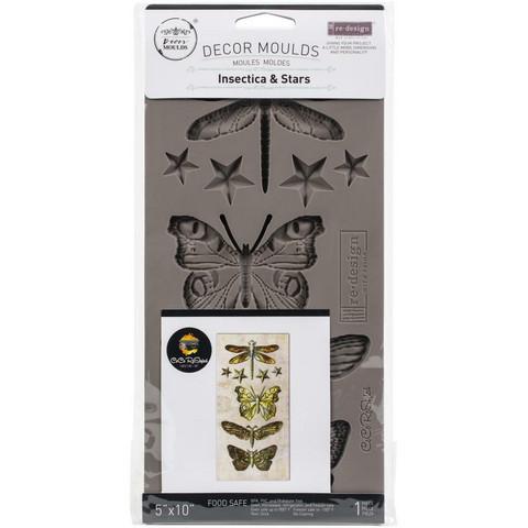 Prima Marketing - Decor Mould, Insecta & Stars, Silikonimuotti