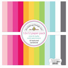 Doodlebug - Cute & Crafty, Textured Double-Sided Paper Pack 12